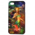 Protective Back Case with 3D Graphic for iPhone 4 - Mermaid Pattern