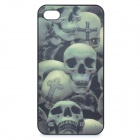 Stylish 3D Skull Protective Plastic Case for iPhone 4 / 4S - Grey