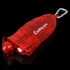 Handheld Portable Water Spray Cooling Fan with Carabiner Clip - Red (1 x AA)