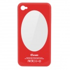 Protective Plastic Back Case with Mirror for iPhone 4 / 4S - Red