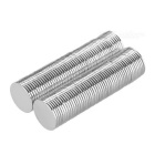 Super Strong Rare-Earth RE Magnets - Silver (12mm*1mm / 100PCS)