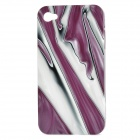 SHY-C805 Ruby Pattern Protective Back Case for Iphone 4 / 4S - Purple + White