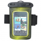 Waterproof Bag Case w/ Armband / Earphone / Earplug / Strap for Cell Phone/MP3/MP4 - Black + Yellow
