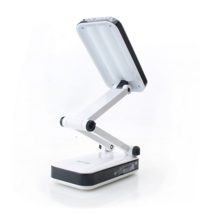 Foldable Rechargeable 2-Mode 24-LED White Light Desk Lamp (90~240V / 2-Flat-Pin Plug)