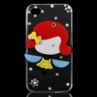 Cute Cartoon Girl Style Protective Plastic Back Case for iPhone 4 / 4S