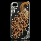 Golden Peacock Pattern Protective Plastic Back Case for Iphone 4 / 4S - Golden + Transparent
