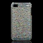 Stylish Diamond Protective Plastic Back Case for Iphone 4 / 4S - White