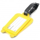 Cute Suitcase Shape Secure Travel Suitcase ID Luggage Tag - Yellow