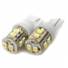 T10 0,25 70 ~ 100LM 6000K 10-LED White Light Bulbs für Auto (12V / Paar)
