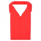 Polo Shirt Style Protective Silicone Back Case for Iphone 4 / 4S - Red