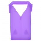 Polo Shirt Style Protective Silicone Back Case for Iphone 4 / 4S - Purple