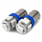 BA9S 1.5W 50 ~ 70LM 5-LED Blue Light Bulbs für PKW (12V / Paar)