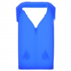 Polo Shirt Style Protective Silicone Back Case for Iphone 4 / 4S - Deep Blue