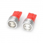 T10 1W 100~150LM LED Red Light Bulbs for Car (12V / Pair)