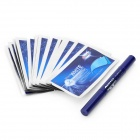 Teeth Whitening Pen Onuge w / Whitening Strips - Blau (14 Paar)