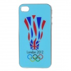 2012 London Olympic Protective Back Case Cover for iPhone 4/4S - Blue