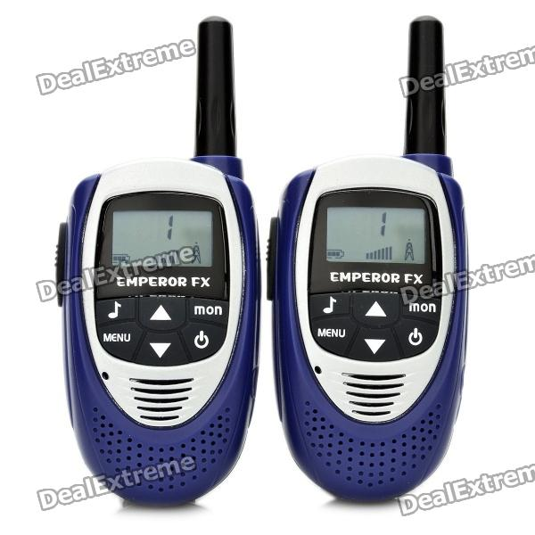 Portable 0.5W 1.1 LCD 3KM Walkie Talkie - Blue + Silver (3 x AAA) bell t228 0 5w 462mhz 22 channel mini walkie talkie orange black 2 pcs 3 x aaa