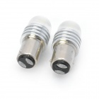 1157 1.5W 7000K 80~90Lumen LED White Light Car Braking Lamps (DC 12V / Pair)