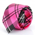 Fashion Lattice Men's Decoration Neck Tie - Deep Pink