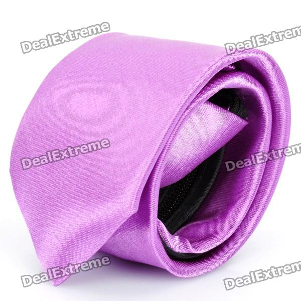 Fashion Men's Decoration Neck Tie - Purple fashion blue purple stripe men s decoration neck tie blue purple