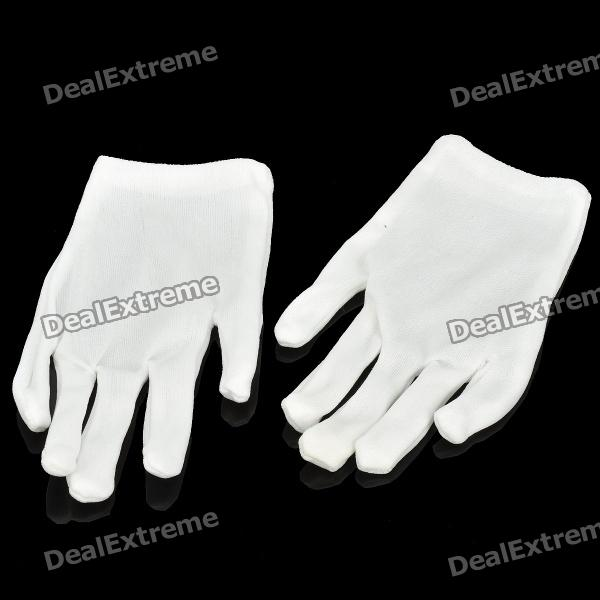 Cotton Women's Gloves for Special Occupation Use - White (Pair/Size-L)