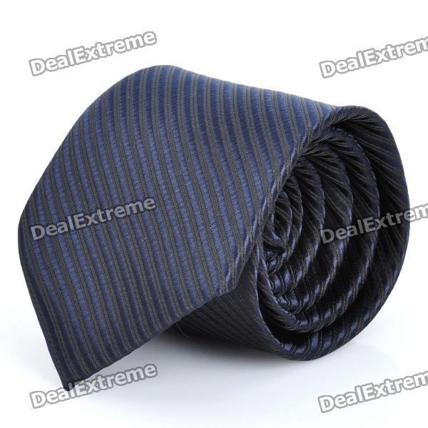 Fashion Narrow Stripe Men's Decoration Neck Tie - Deep Blue fashion blue purple stripe men s decoration neck tie blue purple
