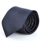 Fashion Narrow Stripe Men's Decoration Neck Tie - Deep Blue