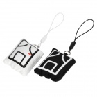 "Cute Chinese ""Jiong"" Pattern Cellphone Decorative Strap - White + Black"