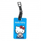 Cute Hello Kitty Secure Travel Suitcase ID Luggage Tag - Blue