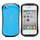 iFace First Class Sport Car Style Protective Back Case for iPhone 4 / 4S - Blue + Black
