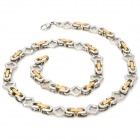 Fashion Allergy Free Stainless Steel Necklace - Silver + Golden