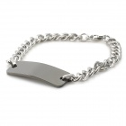 Fashion Allergy Free Stainless Steel Bracelet - Black + Silver