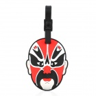 Beijing Opera Mask Style Travel Suitcase ID Luggage Tag - Red + Black