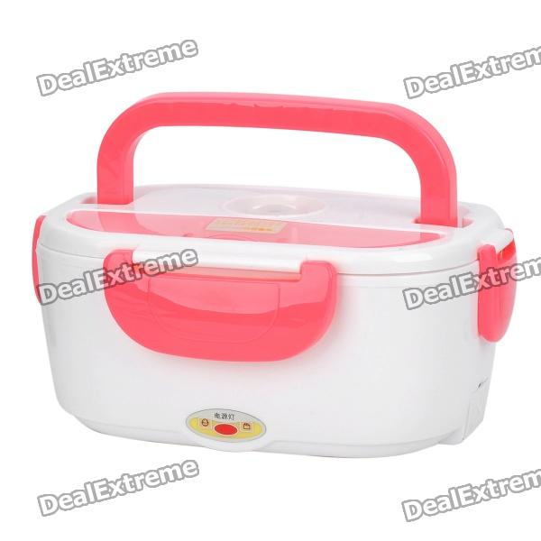 Multi-Function Electric Heating Lunch Box - White + Pink ac 220v 500w high power electric ceramic thermostatic semiconductor ptc heating element heater plate heater element