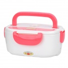 Multi-Function Electric Heating Lunch Box - White + Pink