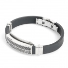 Fashion Stainless Steel Pressure Reduction Silicone Wrist Strap (22cm)