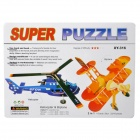 Intellectual Development DIY 3D Paper Puzzle Set - Helicopter + Biplane (4-Card)