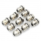 Electrical DIY Cable Wire Terminal Glands - Silver (10-Piece)