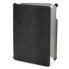 ROCK Texture Series Protective PU Leather Case for The New Ipad - Black