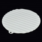 Round Shaped Silicone Heat Resistant Pad Mat - White