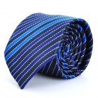 Fashion Blue/Purple Stripe Men's Decoration Neck Tie - Blue + Purple