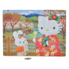 Intellectual Development Hello Kitty Image Pattern Paper Jigsaw Puzzle (96-Piece Pack)