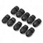 PG7 Water Resistant Cable Glands - Black (12.5mm / 10-Pack)