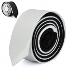 Fashion Black/White Men's Decoration Neck Tie - Black + White