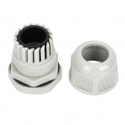 PG21 Plastic Waterproof 13~18mm Cable Glands - Grey (Pair)