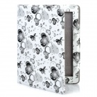 Cute Lover Heart Pattern Protective PU Leather Case for iPad 2 / The New iPad - Grey Black