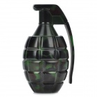 Grenade Style Double Layers Tobacco Cigarette Grinder - Green + Black