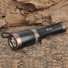 SK-03 Cree XR-E Q5 180LM 5-Mode White Diving Flashlight - Black + Brown (1 x 18650)