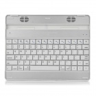 Bluetooth V3.0 78-Key Wireless Keyboard with Speaker for Ipad 1/2/New Ipad - White + Silver