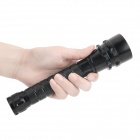 600LM Dimming White Diving Flashlight - Black (2 x 18650)